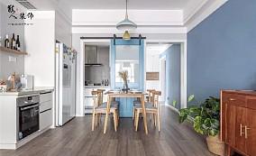 130㎡舒适北欧4居,生活就是简单随性!厨房北欧极简设计图片赏析