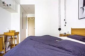 105平木色简约自然舒适系三居卧室潮流混搭设计图片赏析