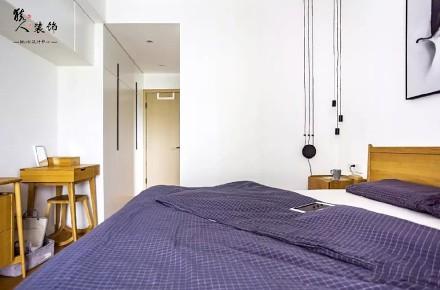 105平木色简约自然舒适系三居卧室