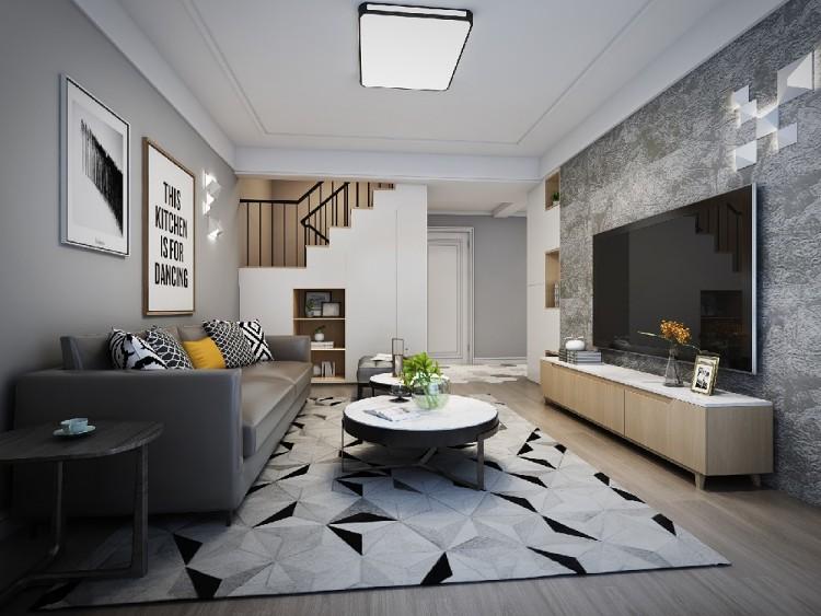 現代簡約頂樓復式三居室