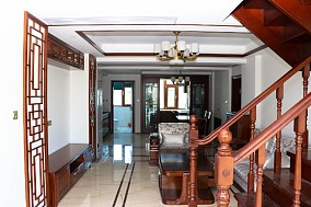 香山花园160平新中式风格客厅中式现代设计图片赏析