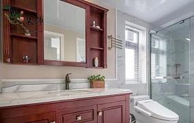 120平美式三居,优雅大气上档次!卫生间中式现代设计图片赏析