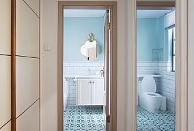 天房北宁公元129㎡中式风格装修案例卫生间中式现代设计图片赏析