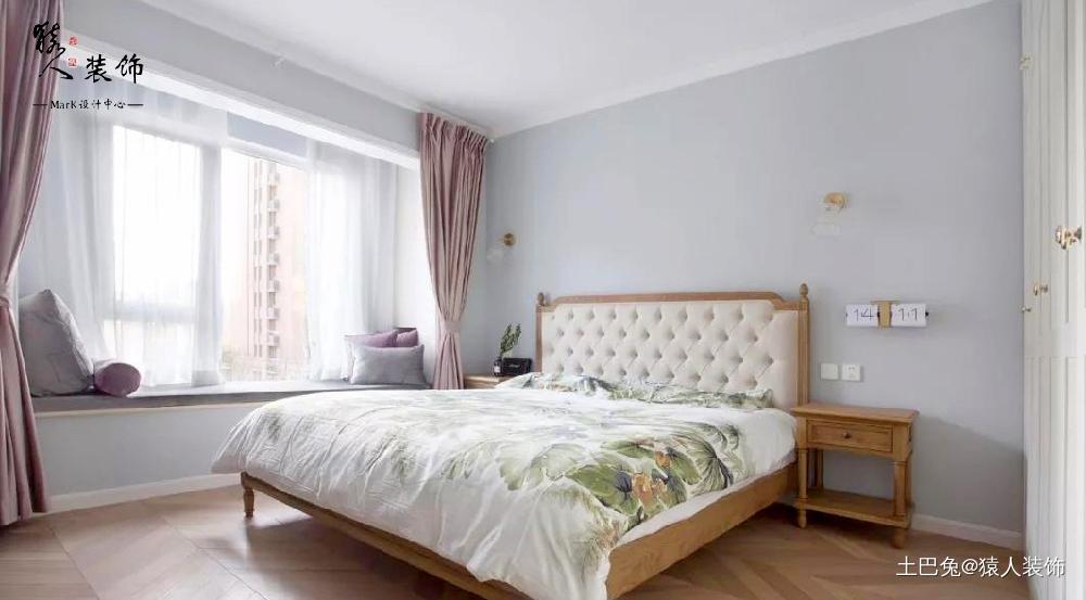 110㎡北欧三室玄关、电视墙巧妙实用卧室北欧极简卧室设计图片赏析