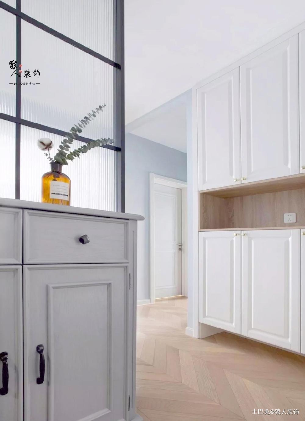 110㎡北欧三室玄关、电视墙巧妙实用玄关北欧极简玄关设计图片赏析