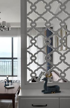 大两房改造美式舒适三居室玄关美式田园设计图片赏析