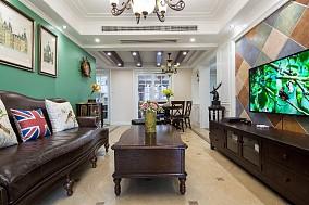 【完工实拍】秋已至,遇见最心动的美式家客厅美式田园设计图片赏析