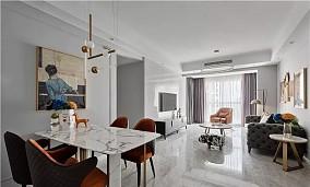 93㎡轻奢混搭住宅,精致有质感厨房潮流混搭设计图片赏析