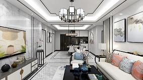 115㎡新中式美居,舒适写意14389377