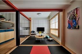 85平情有独钟的日式风格客厅日式设计图片赏析