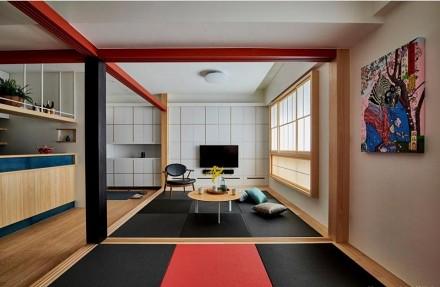 85平情有独钟的日式风格客厅