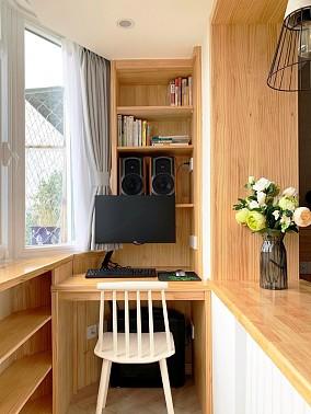 52m²现代简约两居精致收纳阳台现代简约设计图片赏析