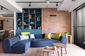 98㎡轻工业风,简约+粗犷,实用舒适客厅其他设计图片赏析