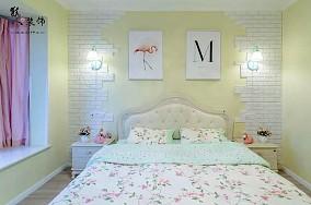 120㎡清新简欧风三居婚房,真敞亮!卧室欧式豪华设计图片赏析
