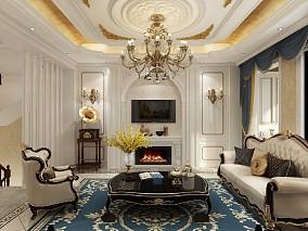 富春山居五室三厅欧式风格装修14423276