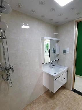 125㎡四居室,美式田园风格!卫生间1图美式田园设计图片赏析