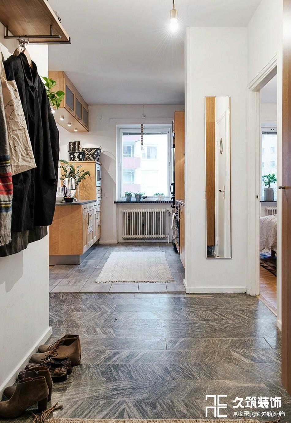 49㎡现代简约一居室小户型设计玄关现代简约玄关设计图片赏析