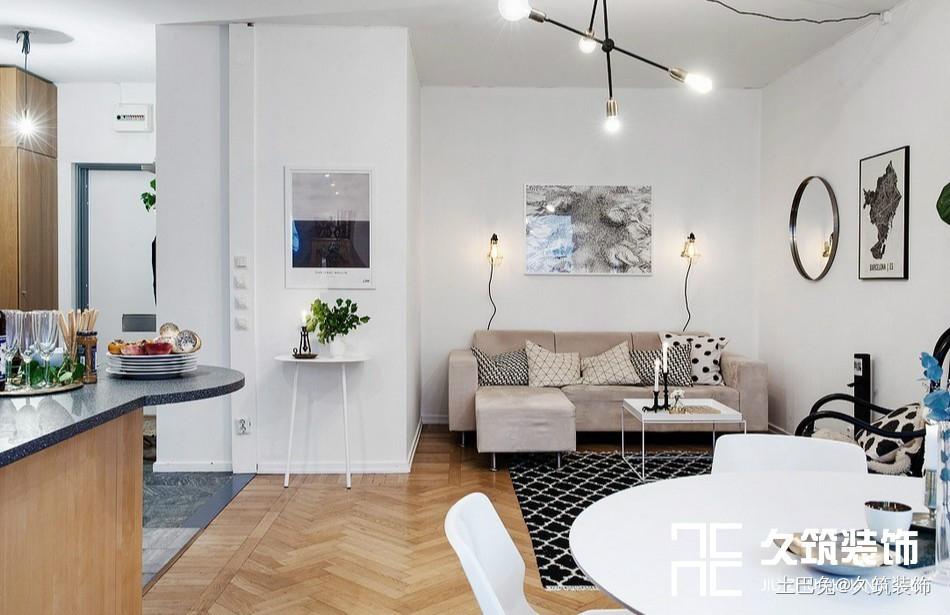 49㎡现代简约一居室小户型设计客厅现代简约客厅设计图片赏析