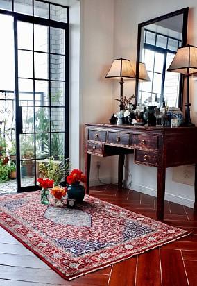 95平新中式复古风格卧室其他设计图片赏析