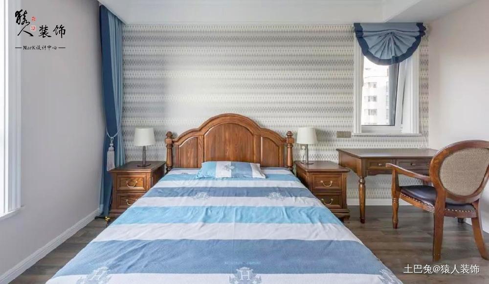 145平简美四居厨房完美纳入小阳台卧室美式经典卧室设计图片赏析