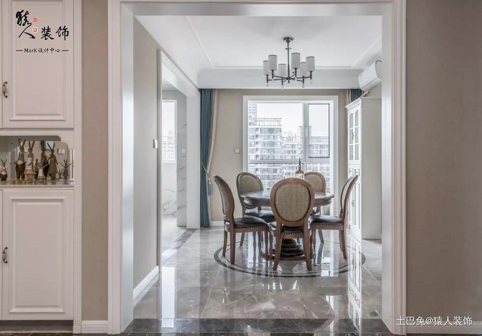 145平简美四居厨房完美纳入小阳台厨房美式经典餐厅设计图片赏析