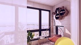 135平浪漫潮流我的家阳台潮流混搭设计图片赏析