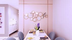 135平浪漫潮流我的家厨房1图潮流混搭设计图片赏析