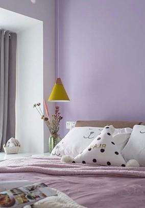 73㎡的清新北欧两居,小而精致文艺范卧室北欧极简设计图片赏析