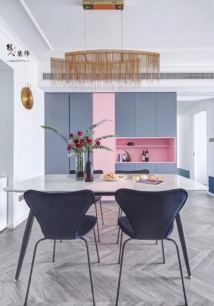 143㎡法式轻奢,颠覆常规的浪漫风情!厨房