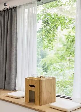 125㎡治愈系日式家,每1㎡都是亮点!阳台日式设计图片赏析