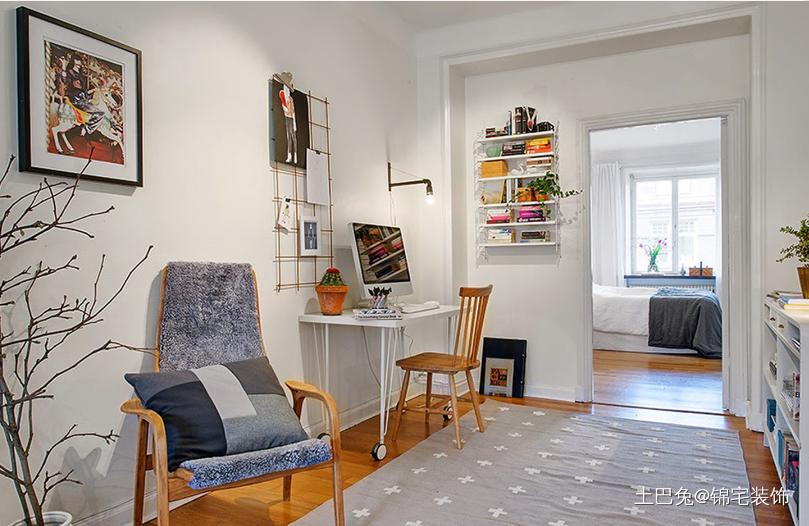 55平米一室户北欧风格功能区北欧极简功能区设计图片赏析