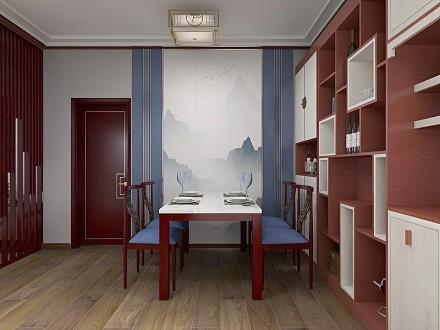 90平方的新中式空间厨房