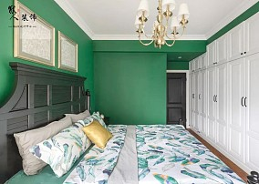 130㎡美式小资情调,最喜欢卧室!卧室1图美式田园设计图片赏析