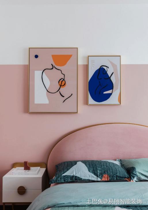 225平方米轻奢风赏析卧室床头柜潮流混搭卧室设计图片赏析