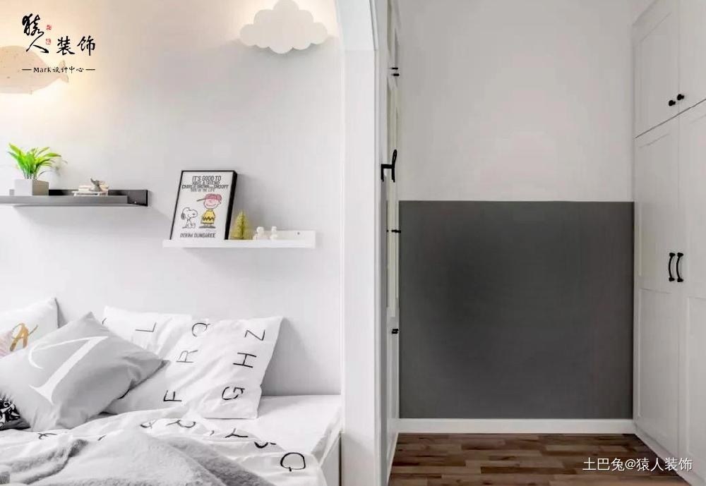 90㎡两室儿童房榻榻米超省空间卧室北欧极简卧室设计图片赏析