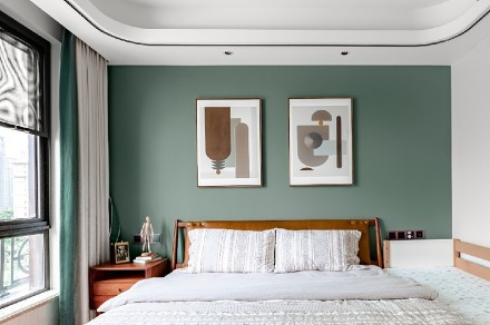 118㎡老气精装房变身年轻时尚宜居美家卧室