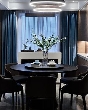 130平中式三居室,讲究空间的层次感~厨房2图中式现代设计图片赏析
