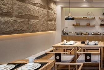 300平的现代中式民宿餐厅