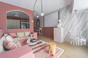 浪漫的北欧风少女居家客厅现代简约设计图片赏析