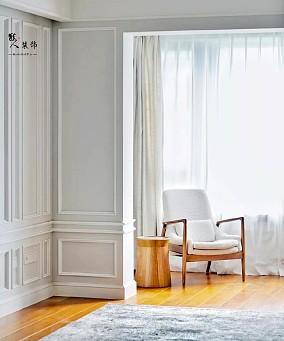 115平美式混搭北欧线框墙面优雅复古阳台潮流混搭设计图片赏析