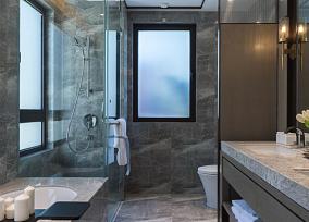 120㎡东方新中式·简约卫生间中式现代设计图片赏析