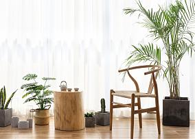 130㎡日式三居室,整体简洁,美观大方阳台日式设计图片赏析