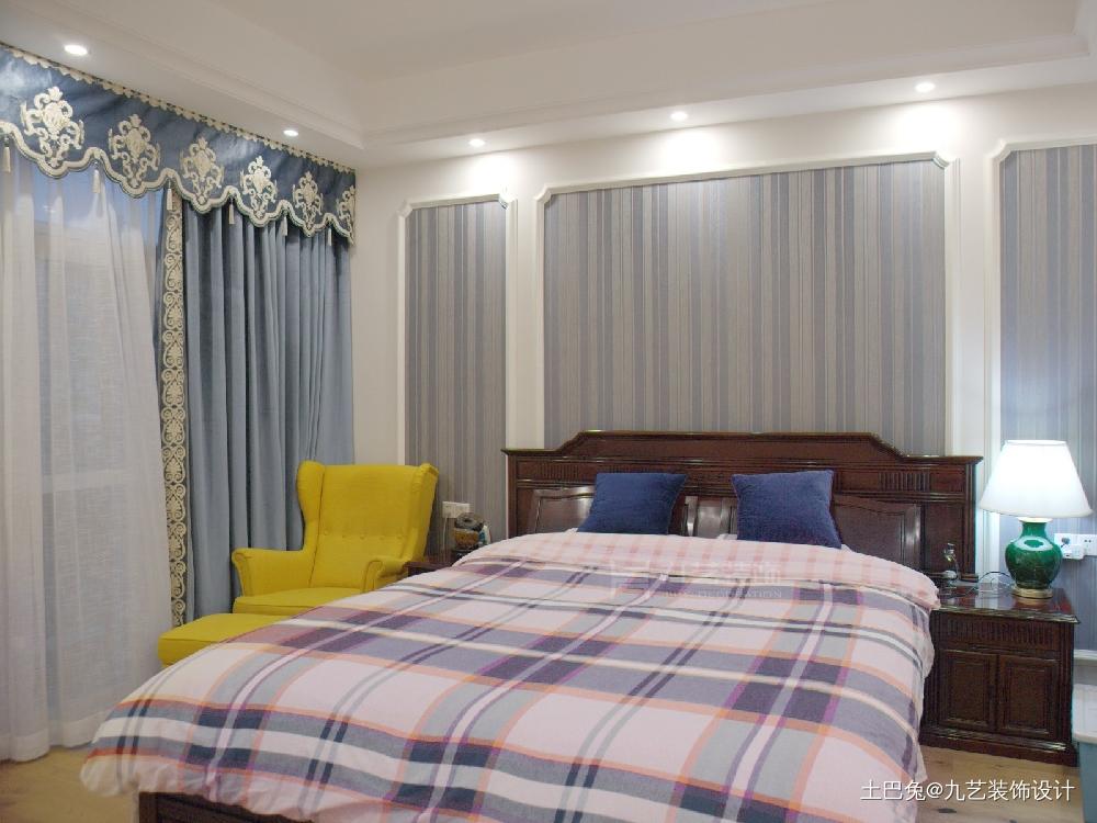 美式乡村风格梵高印象之《收获景象》卧室美式田园卧室设计图片赏析