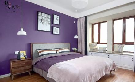140马卡龙北欧三室轻巧甜蜜氛围卧室2图