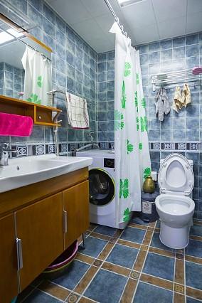 星悦国际91平米现代混搭风格装修卫生间潮流混搭设计图片赏析