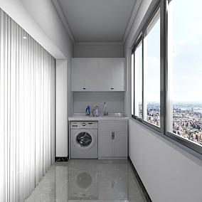 都市白领,现代轻奢风阳台现代简约设计图片赏析