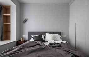 93㎡海蓝色的北欧风卧室北欧极简设计图片赏析