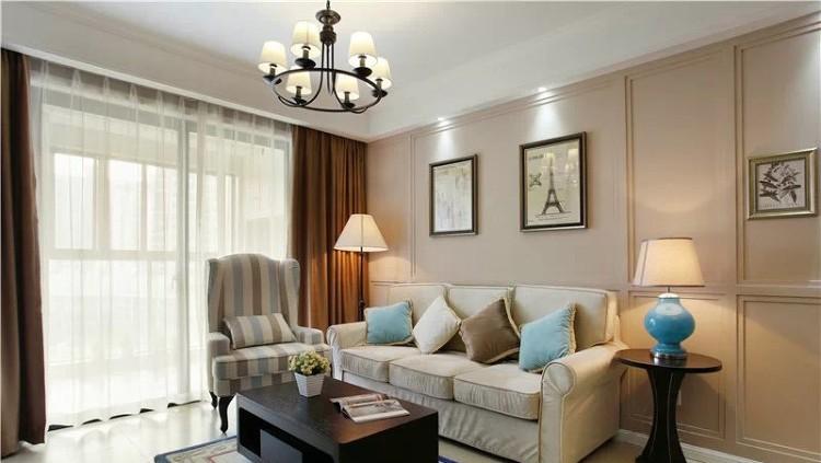 90平方二房二厅/美式风格