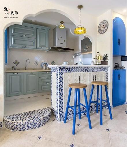 70平蓝白地中海二室在家遐想爱琴海餐厅1图