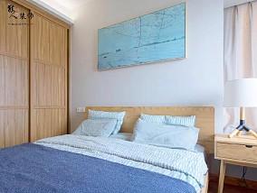 120平清爽原木风厨房改玻璃巧借光卧室日式设计图片赏析